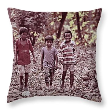 Three Campanions Throw Pillow