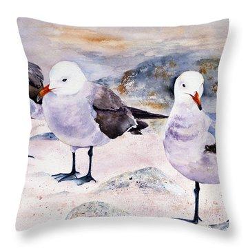 Three Carmelites Throw Pillow