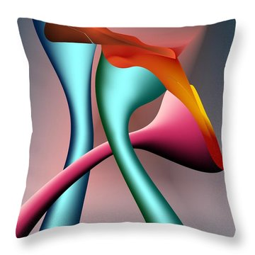 Throw Pillow featuring the digital art Three Choices by Leo Symon
