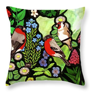 Throw Pillow featuring the photograph Three Company by Munir Alawi