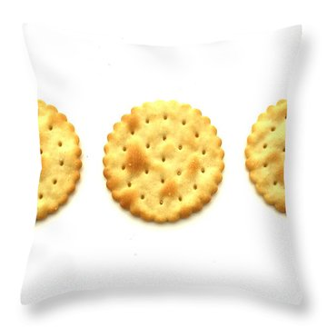 Three Crackers Throw Pillow