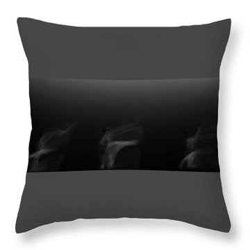 Three Dancers Throw Pillow by Catherine Lau