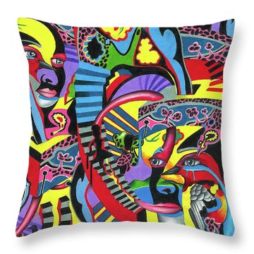 Three Disguises Of An Abstract Thought Throw Pillow