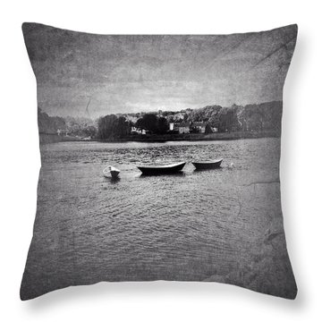 Three Dories Throw Pillow by Ann Tracy