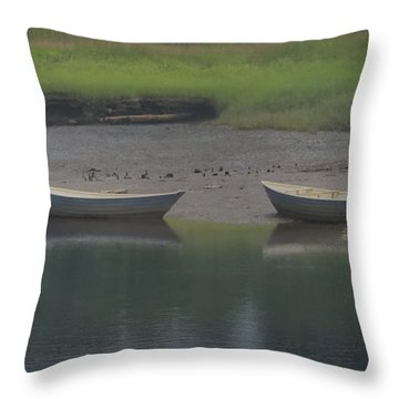 Three Dories Throw Pillow