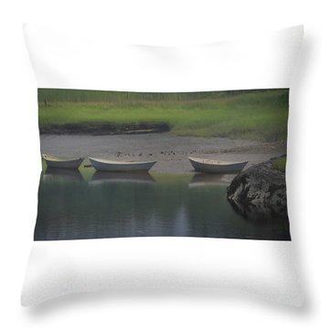 Three Dories Throw Pillow
