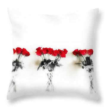 Three Dozen Roses Throw Pillow by Scott Pellegrin