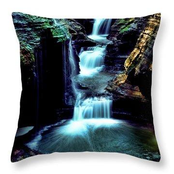 Three Falls Throw Pillow