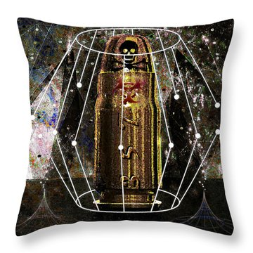 Throw Pillow featuring the digital art Three Fifty Seven Sig by Iowan Stone-Flowers