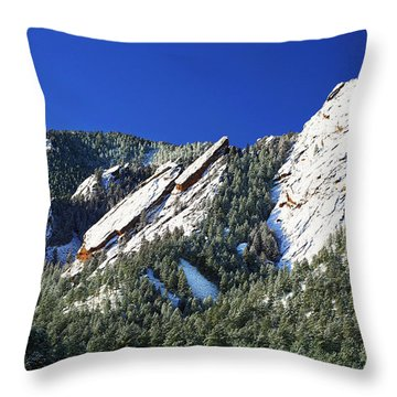 Three Flatirons Throw Pillow
