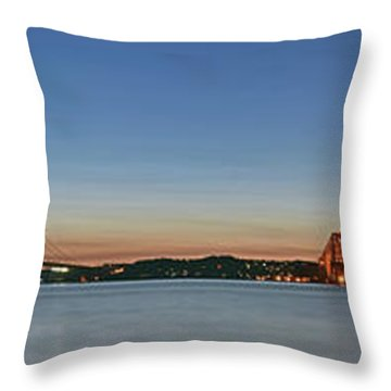 Three Forths At Dusk Throw Pillow