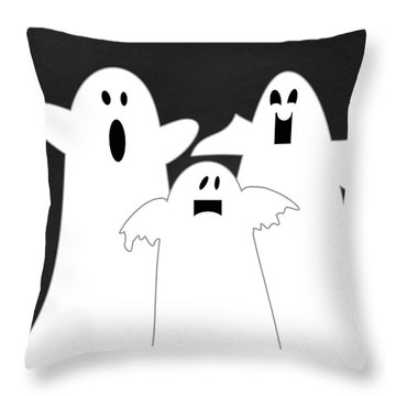 Three Ghosts Throw Pillow