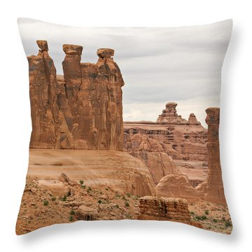 Three Gossips Throw Pillow