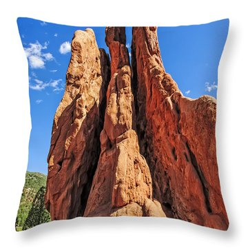 Three Graces Throw Pillow by Charles Dobbs