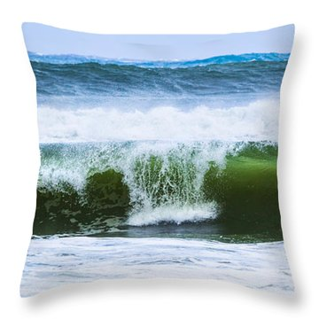 Throw Pillow featuring the photograph Three In A Row by Michelle Wiarda