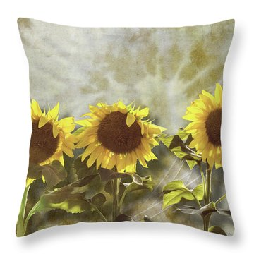 Three In The Sun Throw Pillow
