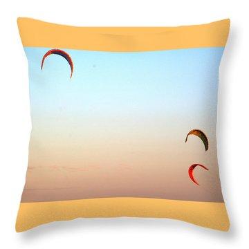 Three Kites  Throw Pillow