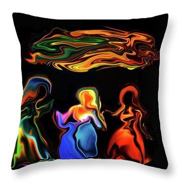 Three Ladies Throw Pillow