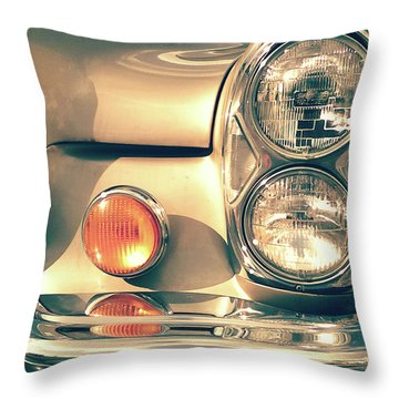 Throw Pillow featuring the photograph Three Lights - Gold by Rebecca Harman