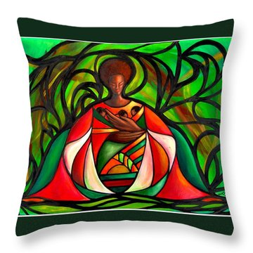 Three Little Birds Throw Pillow by Lee Grissett