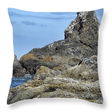Throw Pillow featuring the photograph Three Little Birds by Peggy Hughes