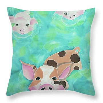 Three Little Pigs  Throw Pillow