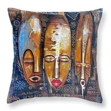 Three Masks Throw Pillow