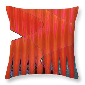Three Merge Abstract Throw Pillow