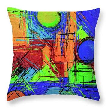 Three Moons Throw Pillow