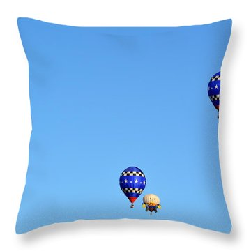 Throw Pillow featuring the photograph Three Of A Kind And Humpty Too by AJ Schibig