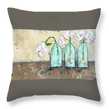Three Of A Kind Throw Pillow by Kirsten Reed