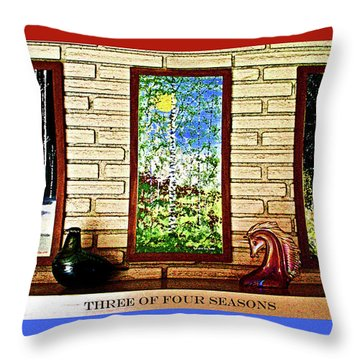 Three Of Four Seasons Throw Pillow