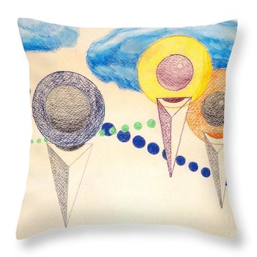 Throw Pillow featuring the painting The Recession Of Depression 2 by Rod Ismay