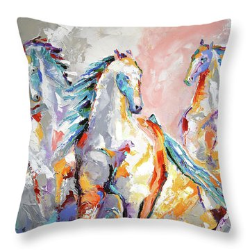 Three Out Of The Mist Throw Pillow