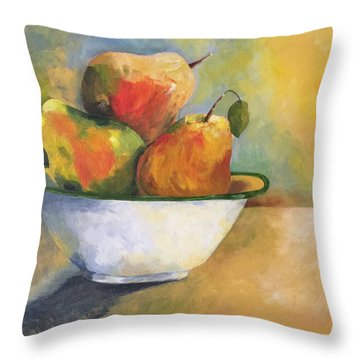Pearing Up Throw Pillow