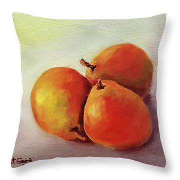 Three Pears Throw Pillow