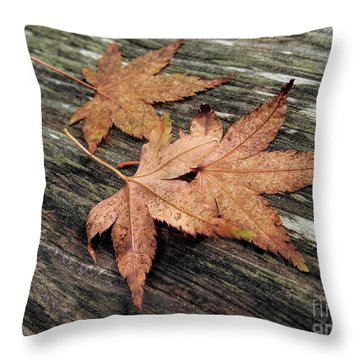 Throw Pillow featuring the photograph Three by Peggy Hughes