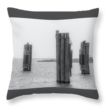 Three Pillars Throw Pillow