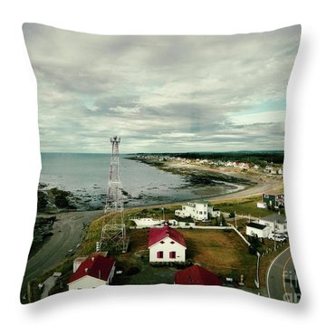 Three Red Roofs Throw Pillow by Aimelle