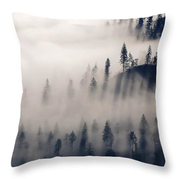 Three Ridges Fog Throw Pillow