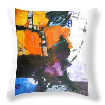 Three Ring Circus Throw Pillow by Ron Stephens