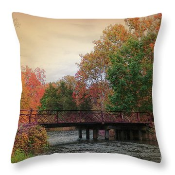 Three Rivers Michigan Throw Pillow