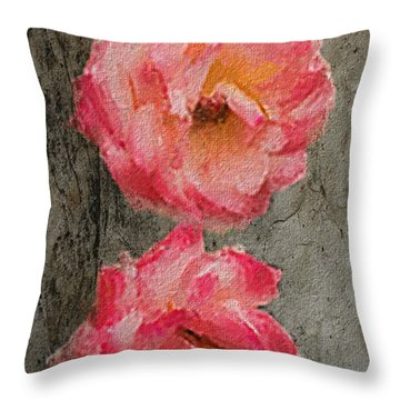 Three Roses Throw Pillow by Dale Stillman