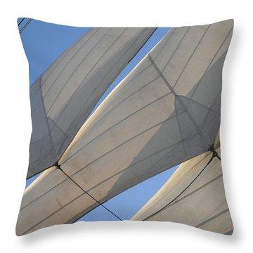 Three Sails Throw Pillow