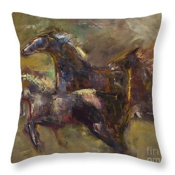 Three Set Free Throw Pillow by Frances Marino