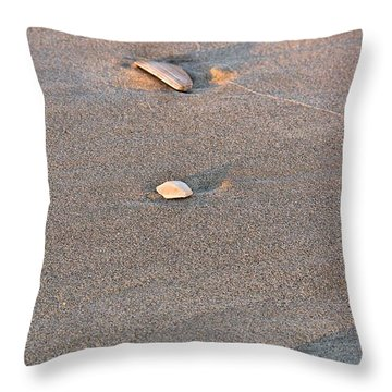 Three Shells Throw Pillow