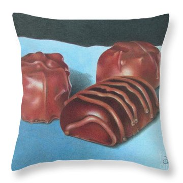 Three Sirens Throw Pillow by Pamela Clements