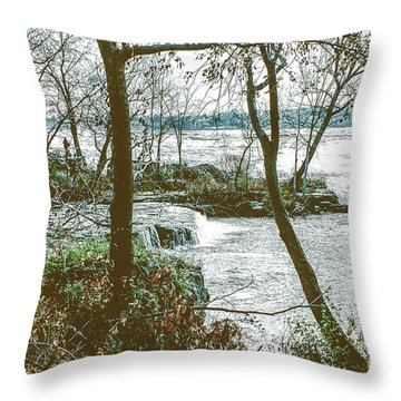 Three Sisters Island Throw Pillow