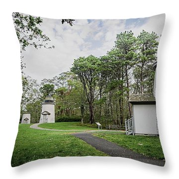 Three Sisters Lighthouses Throw Pillow