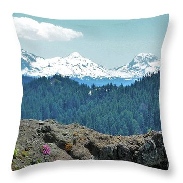 Three Sisters Throw Pillow by Michele Penner